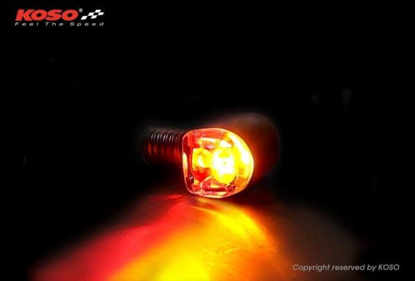 NANO LED Blinker + Rücklicht schwarz matt