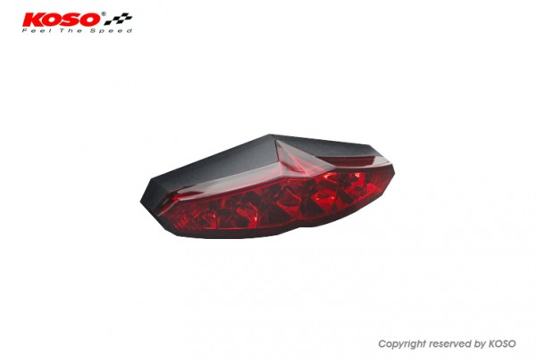 LED Back light (with licenseplate light) - Infinity red e-approved