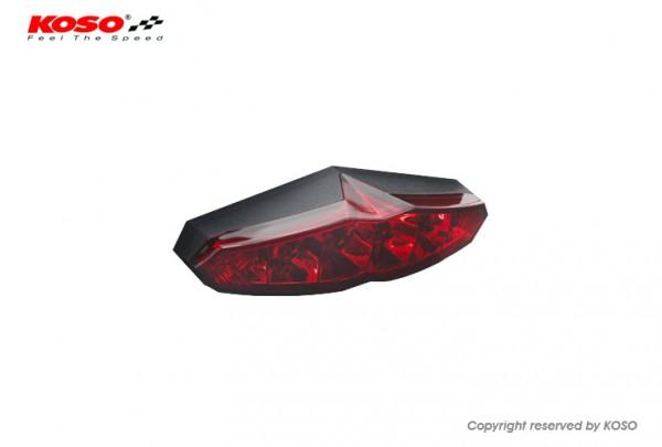 LED Ruecklicht - Koso Infinity mit Kennzeichenbeleuchtung - rot E-geprüft