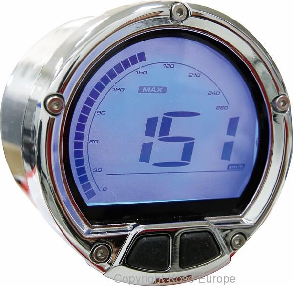 D55 DL-02S Speedometer (LCD Display, max 160mph/260 kmh, ODO, Trip)