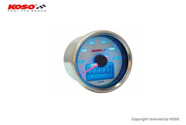 Tachometer (GP Style 55mm) - ~140 MPH (~220km/h, Blau beleuchtet, Selftest)
