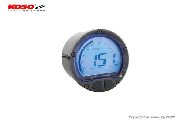 D55 DL-02R Tachometer/Thermometer black (LCD-Display, max 250 degrees C, max 20000RPM) counterclockwise