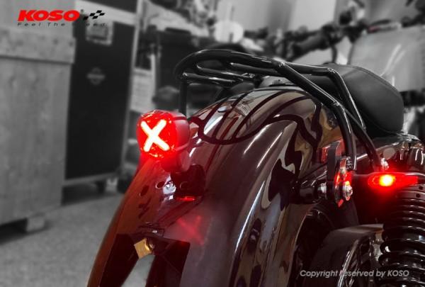 LED Rücklicht mit Bremslichtfunktion, GT-02 Rotes Glas E-geprüft