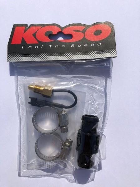 Wassertemperaturadapter Schwarz Durchmesser 16mm