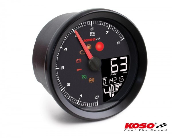 KOSO HD-01-04 für XL-883 & XL-1200 2014+ //Softail 2011+ // Dyna 2012+ schwarzer Rand