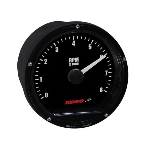 D75 Tachometer Black face 8000 RPM
