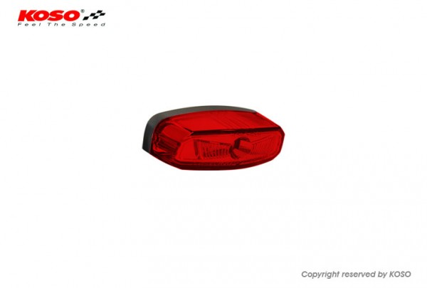 High-Power LED Tailight HAWKEYE with license plate light, red Lens