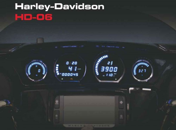 HD-06 Harley Touring LED Instrument Kit for 2014+ Red Black