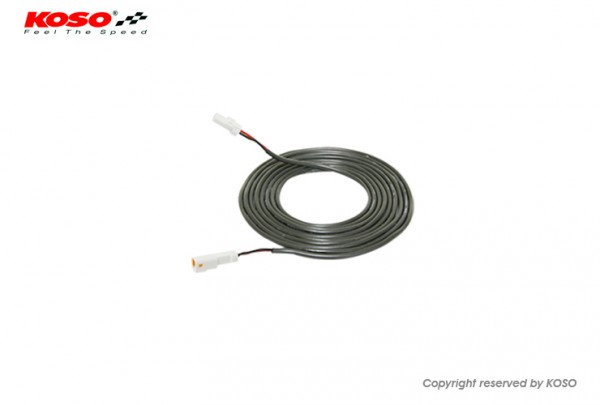 Kabel fuer Temperatursensor 1 Meter, (weisser Stecker)