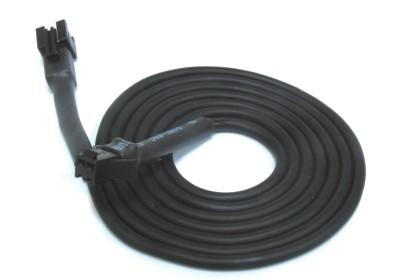 Kabel fuer Temperatursensor 2 Meter (schwarzer Stecker)