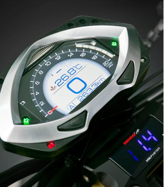 Koso RXF - voll ausgestattetes Cockpit mit TFT-Technologie Tachometer, Drehzahlmesser, Außenthermome
