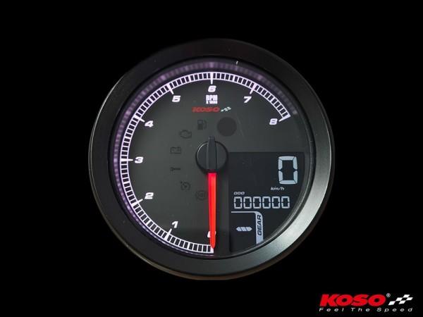 KOSO HD-01-04 für XL-883 & XL-1200 2004 - 2013 // Dyna 2004-2011 schwarzer Rand