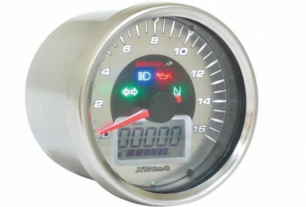 Anleitung D64 Chrome Style Tachometer + Signalleuchten (max. 160 km/h) mit ABE/KBA