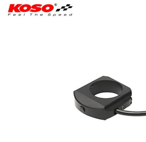 CNC milled external button for Koso Meters, black 3-pin connector