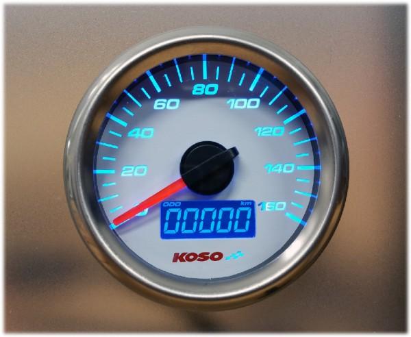 Anleitung D48 GP Style Tachometer (max 160 kmh / mph, ODO, Trip) weiss, externer Knopf