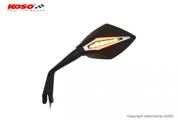 BLADE Style mirror (right side) with turn signal (running light)