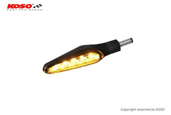 KOSO LED Blinker Z4 mit Lauflichtfunktion, schwarz matt E-geprüft