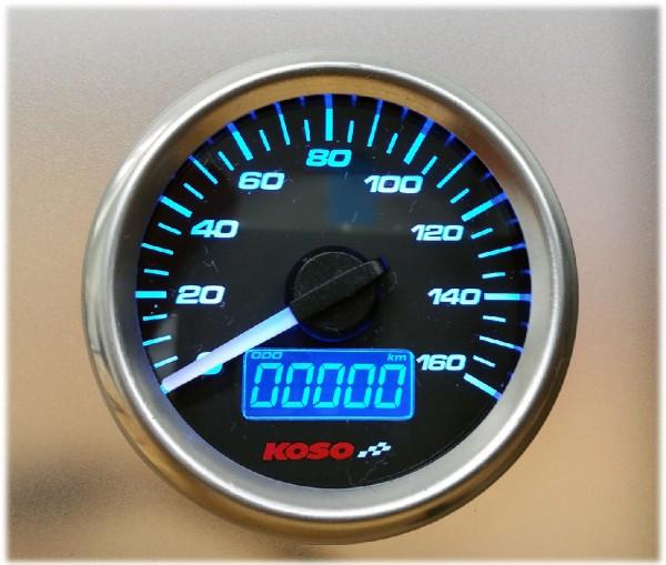 D48 GP Style Tachometer (max. 160 km/h + mph, Tankuhr, uvm.)
