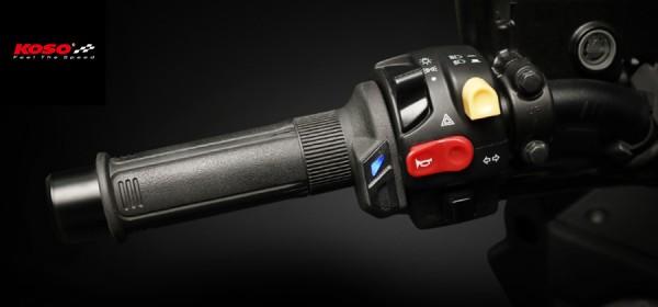 HG 13 Heizgriffe 7/8 Zoll + 1Zoll L=120mm (HG-13 mit integriertem Schalter) - schwarz