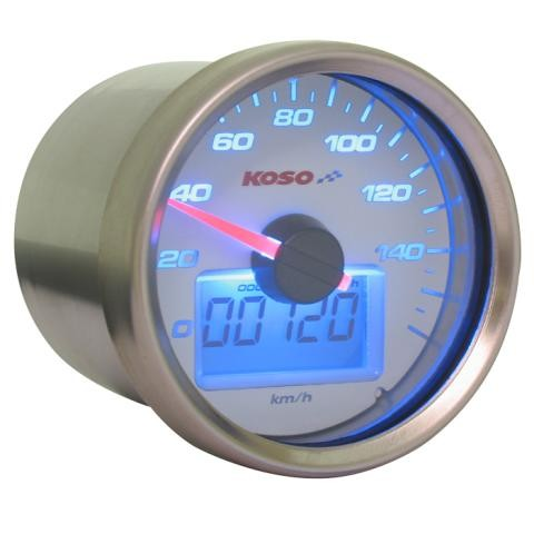 D55 GP Style Tachometer (max 160 kmh, weiss)
