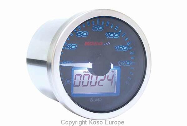 Anleitung D55 Eclipse Style Tachometer (max. 160 kmh + mph/ Trip + Odo/ schwarz)