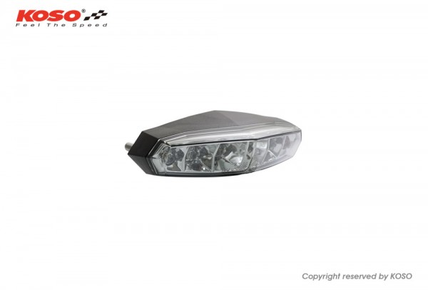 LED taillight Mini (smoke lens) with license plate light e-approved