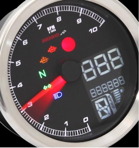 Anleitung KOSO TNT-04 Drehzahlmesser /Tachometer passend mit Chrome Ring mit ABE/KBA