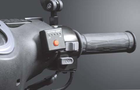 """Heizgriffe 7/8"""" + 7/8"""" L=130mm mit externem Switch - schwarz"""