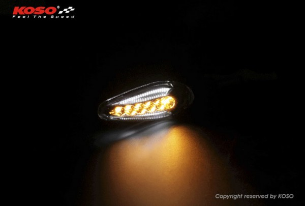 KOSO LED indicator Sonic with front light, black matt E-approved