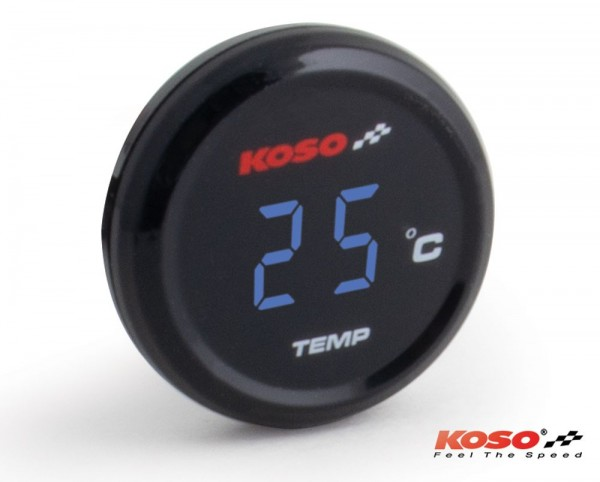 Koso Coin-Thermometer blue display