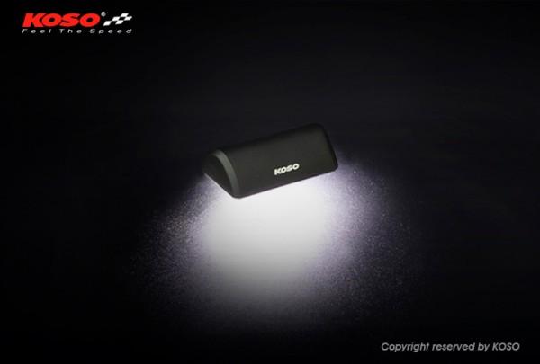 LED Nummernschildbeleuchtung, Drop (schwarz) E-geprüft