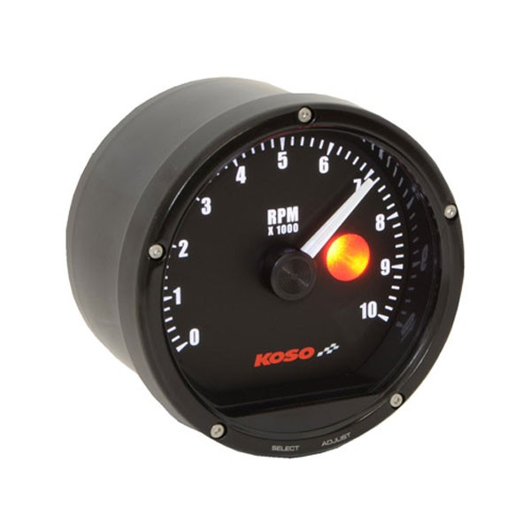 instruction manual D75 Tachometer Black face 10000 RPM (with shiftlight)