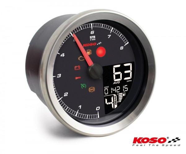 KOSO HD-01-04 für XL-883 & XL-1200 2004 - 2013 // Dyna 2004-2011 silberner Rand