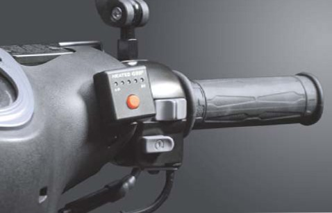 """Heated grips 1"""" + 1 1/8 """" L=130mm with external switch - black"""