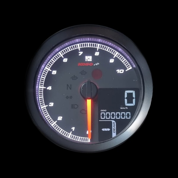 Instructions KOSO TNT-04 RPM Meter /Speedometer with black bezel with ABE/KBA