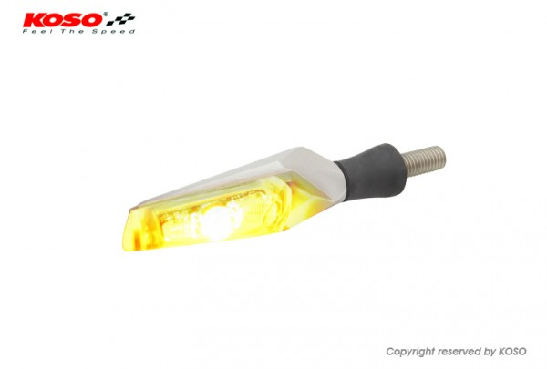LED Indicator Mars, silver e-mark approval