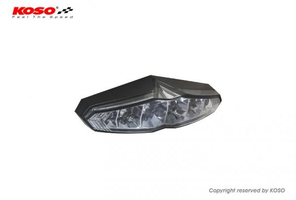 LED Ruecklicht - Koso Infinity mit Kennzeichenbeleuchtung - Rauchglas E-geprüft