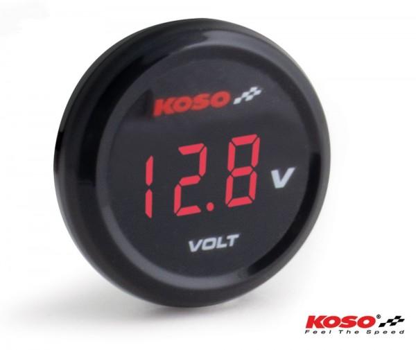 Koso Coin Voltmeter rote Anzeige