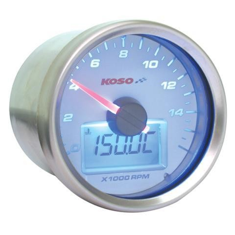 D55 GP Style Tachometer/Thermometer (max 16000 RPM, max 150°C, white)