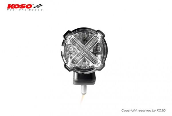 LED Rücklicht mit Bremslichtfunktion, GT-02S Klares Glas E-geprüft mit Halter