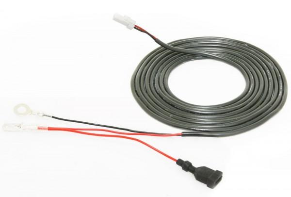 Kabel fuer Drehzahlmesser (Typ C, schwarz, weisser Stecker)