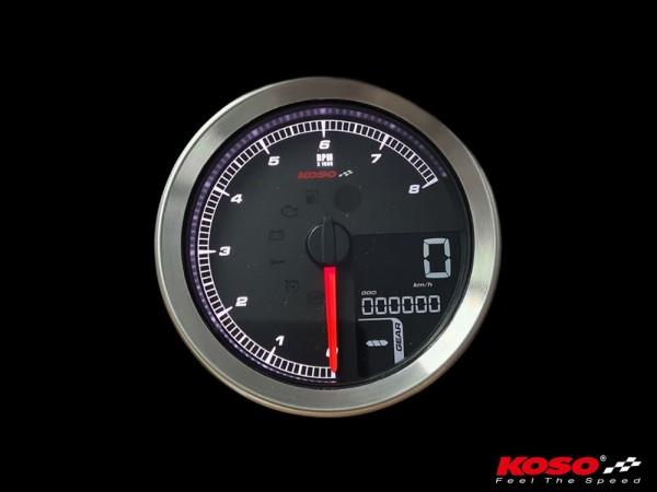 KOSO HD-01-04 für XL-883 & XL-1200 2014+ //Softail 2011+ // Dyna 2012+ silberner Rand