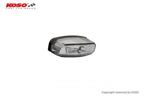 High-Power LED Rücklicht HAWKEYE mit Kennzeichenleuchte, Rauchglas