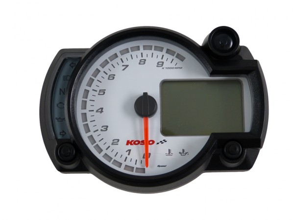 GP Style Tachometer RX2N ~10,000 RPM - new Software white Display with ABE/KBA
